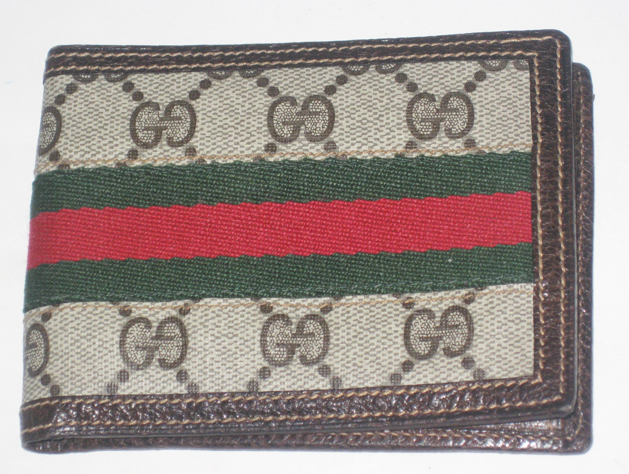 Vintage Gucci Monogram Billfold Wallet