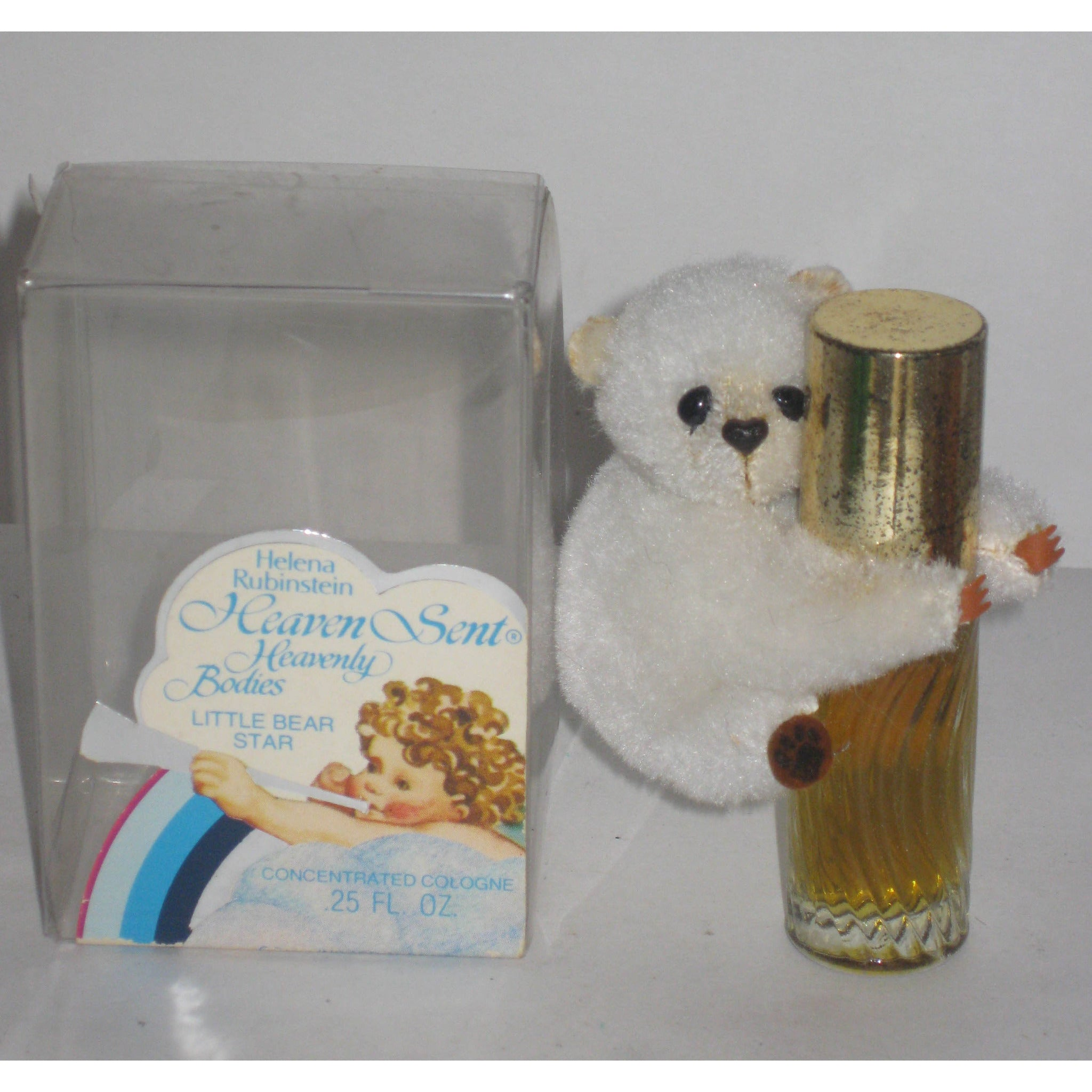 Vintage Heaven Sent Cologne Bear By Helena Rubinstein
