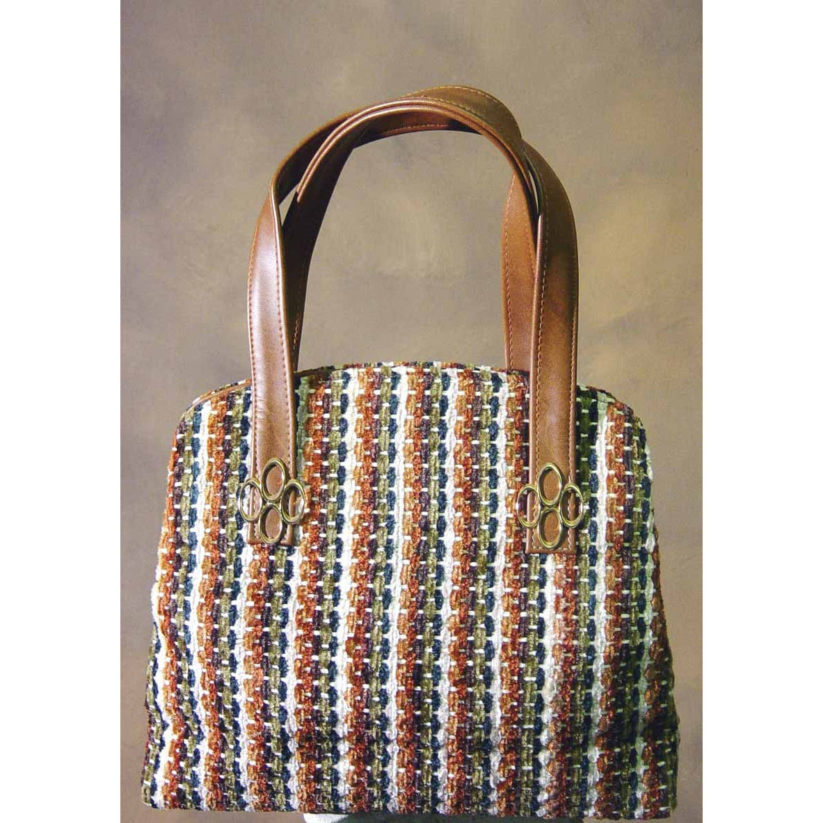 Vintage Italian Multi-Color Carpetbag Purse