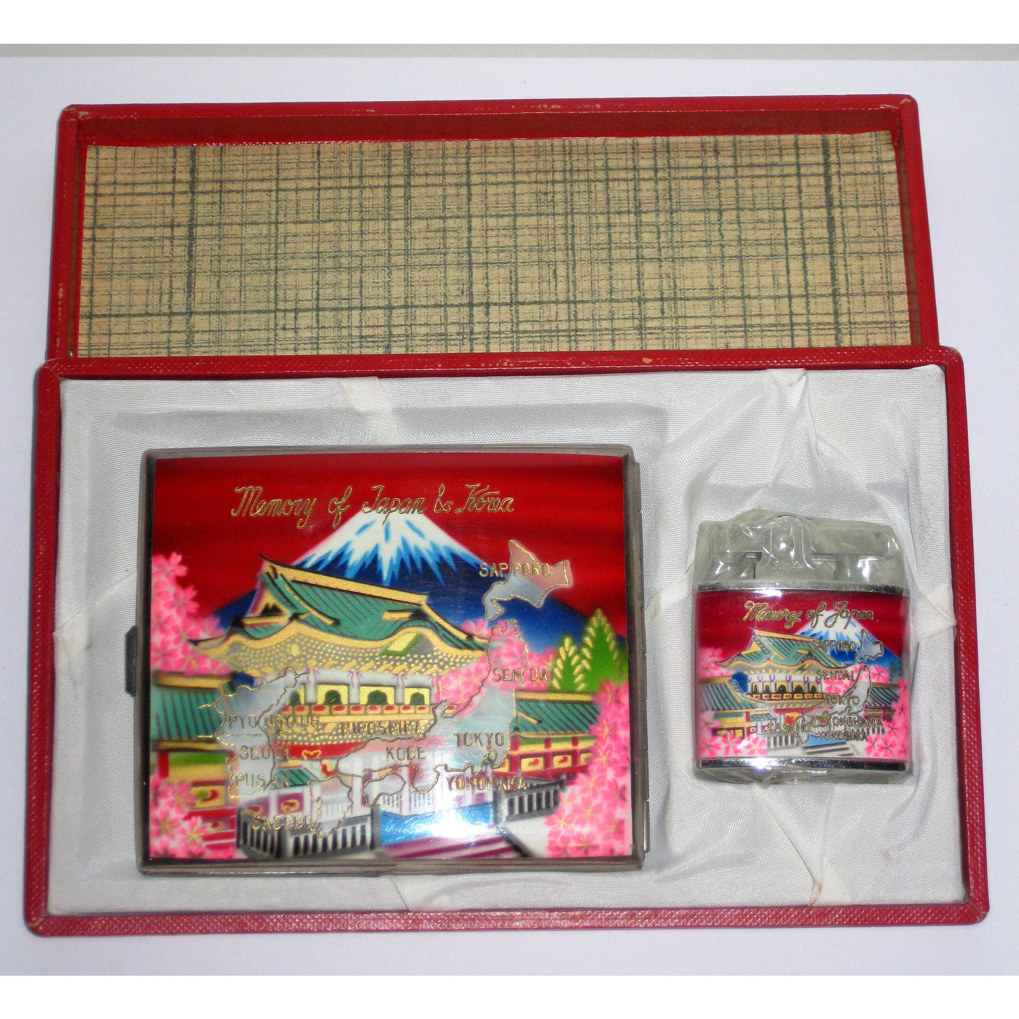 Vintage Memory Of Japan & Korea Cigarette Set
