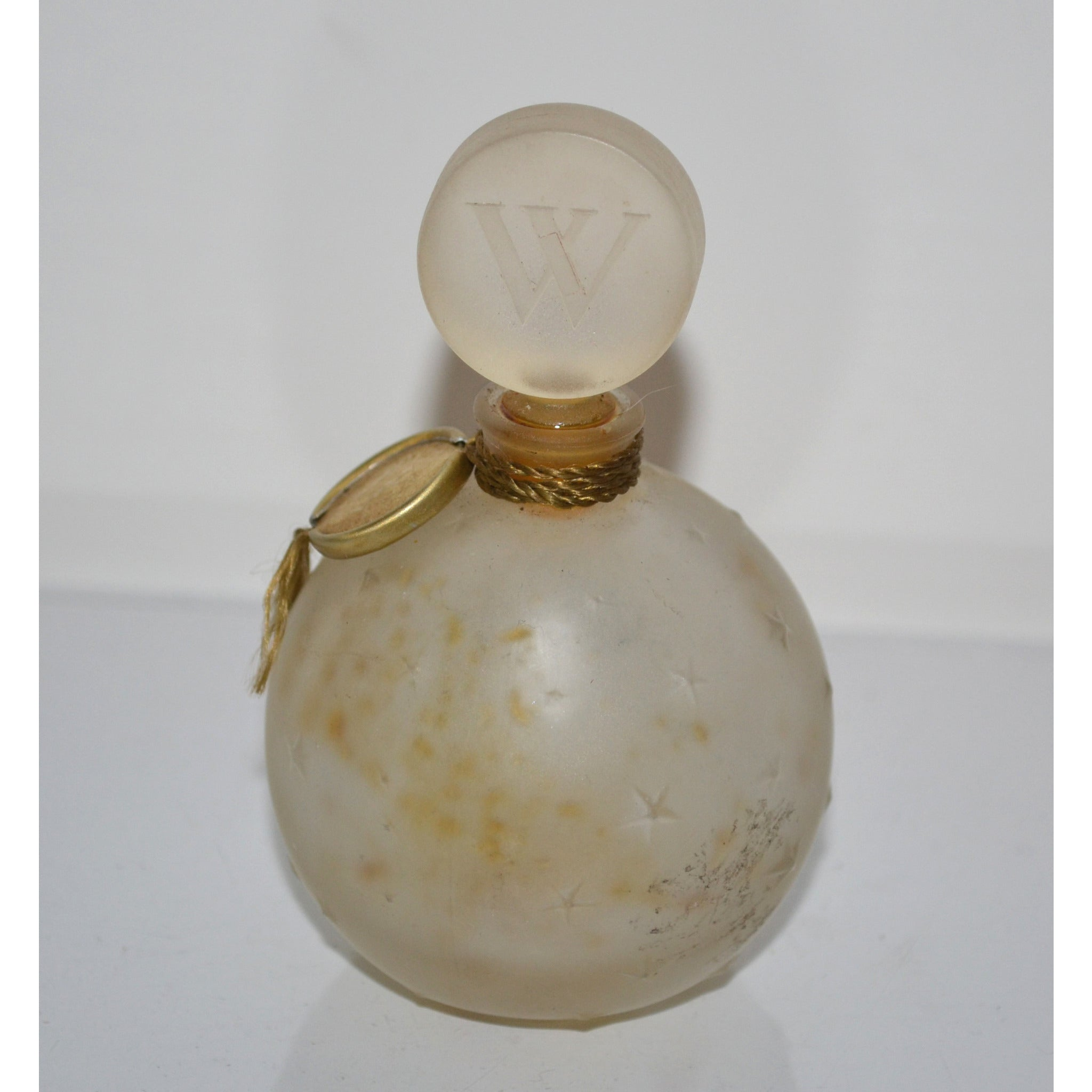 Vintage Je Reviens Frosted Lalique Bottle By Worth