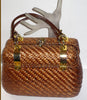Vintage Koret Wicker & Gold Purse