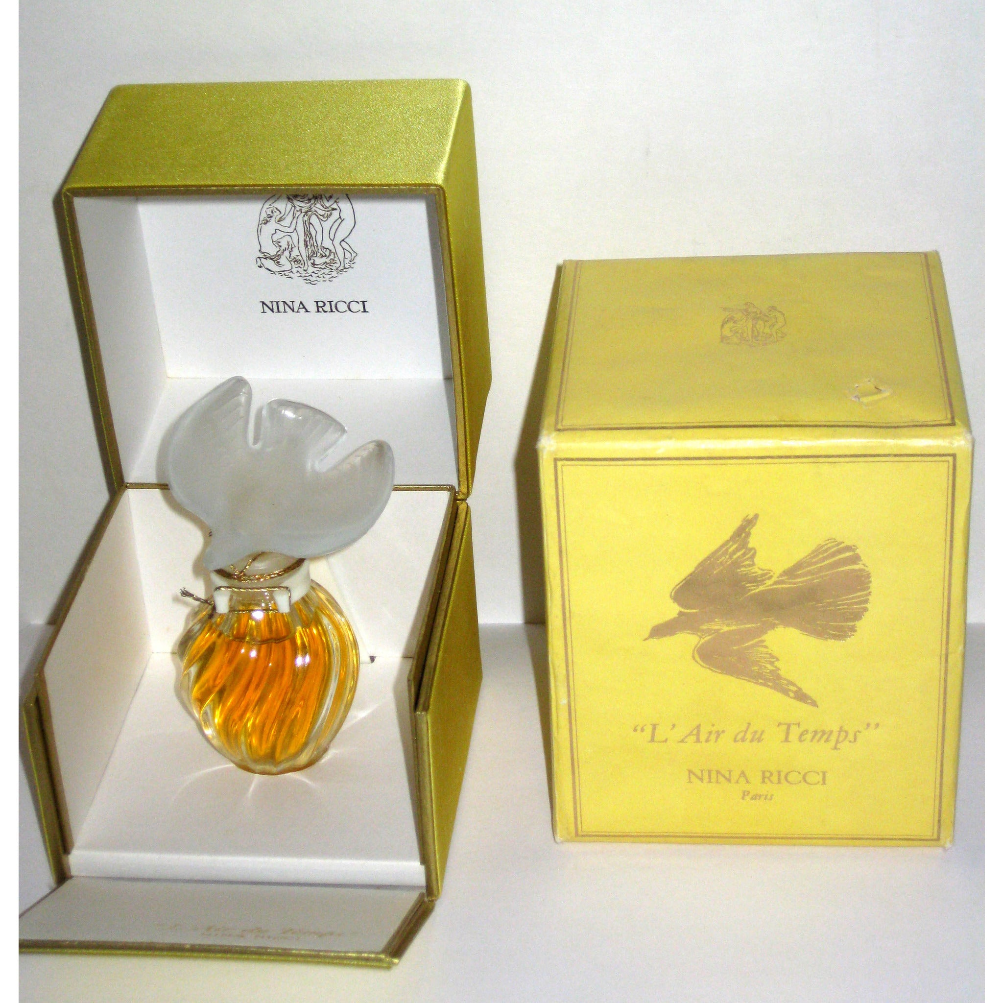 VintageNina Ricci L'Air du Temps Parfum Single Dove Lalique Flacon