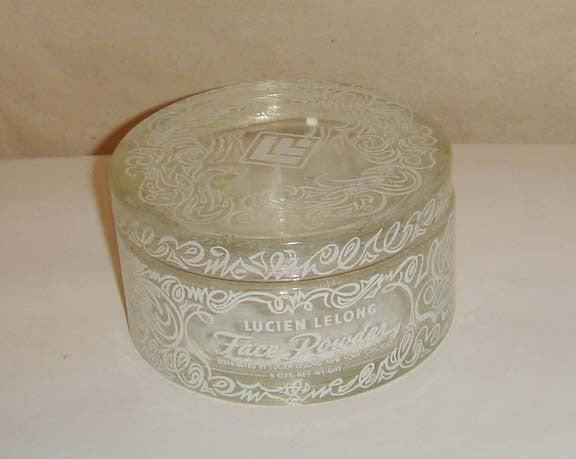 Lucien Lelong Face Powder Glass Jar