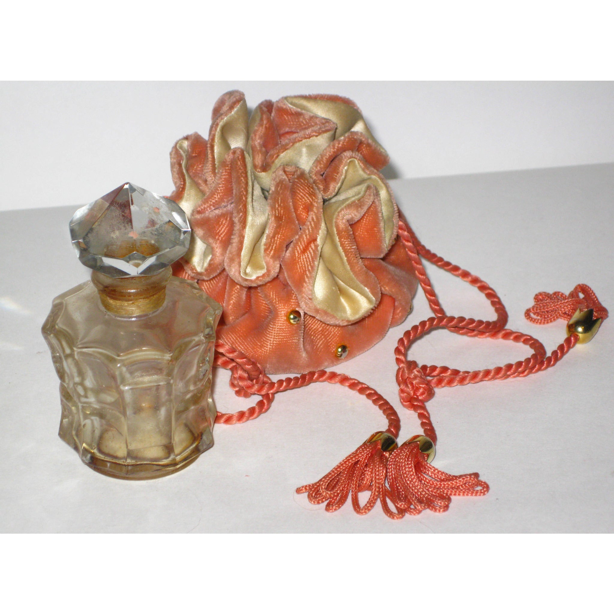 Vintage Marquay Perfume Bottle & Pouch