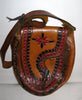 Vintage Tooled Boho Mexican Leather Purse