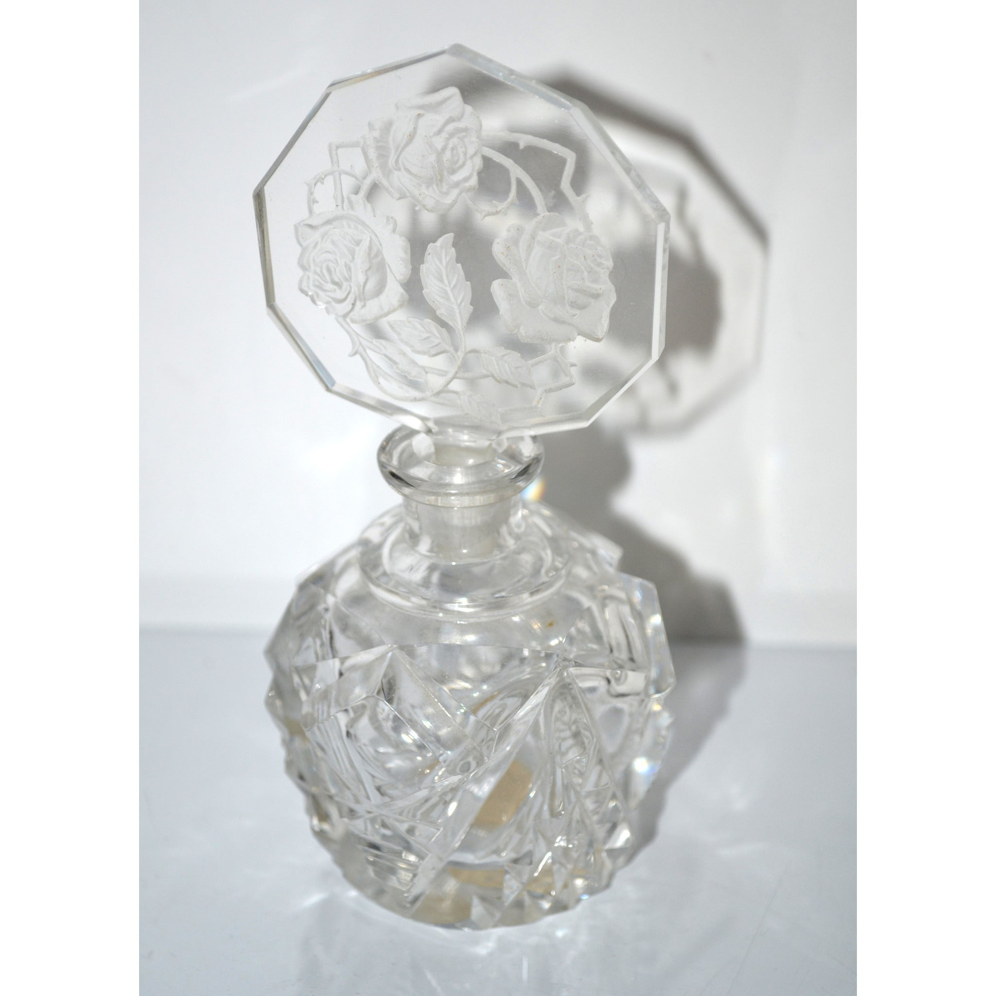 Vintage Morlee Czech Crystal Perfume Bottle