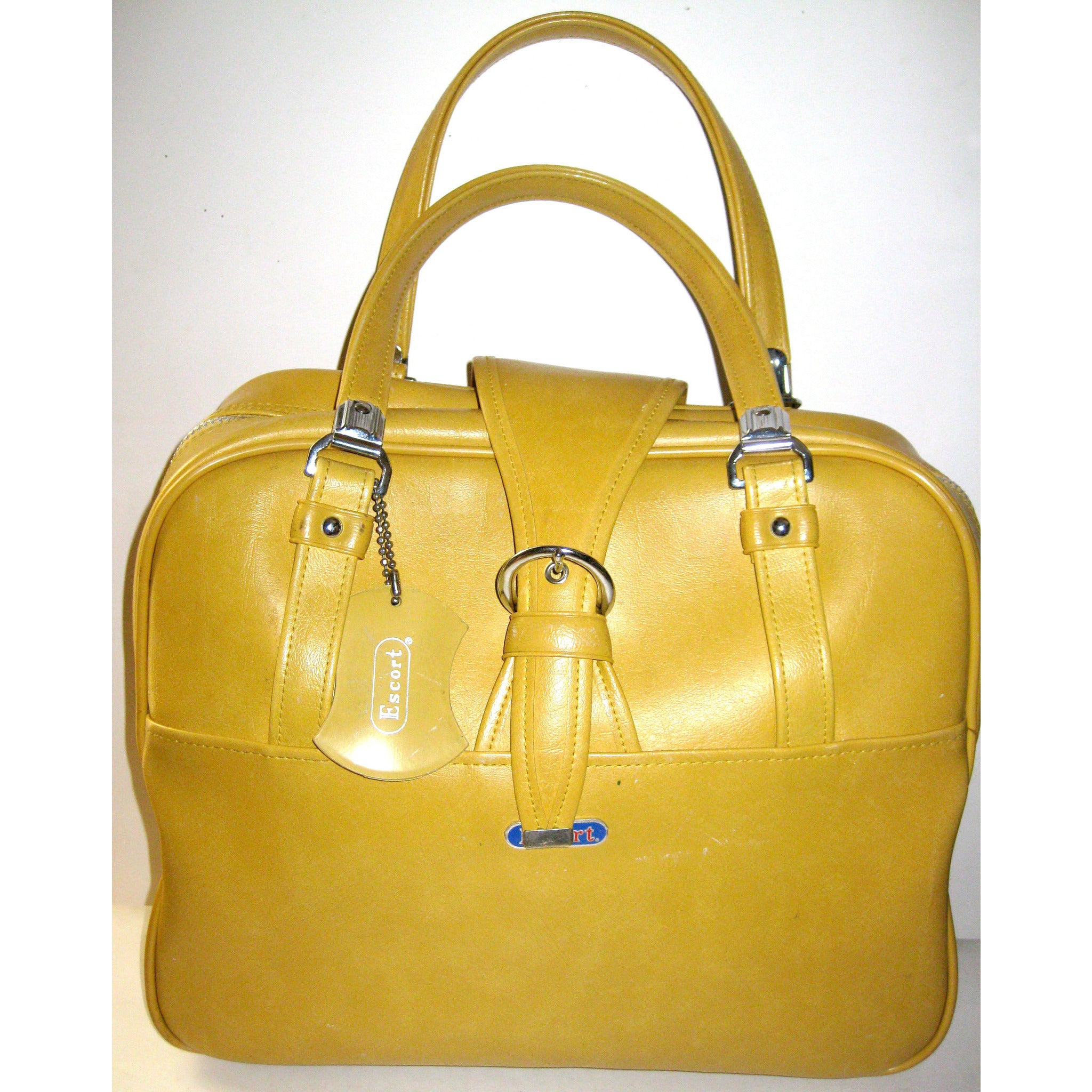 Vintage Yellow Mustard Carry-All Travelbag By Escort
