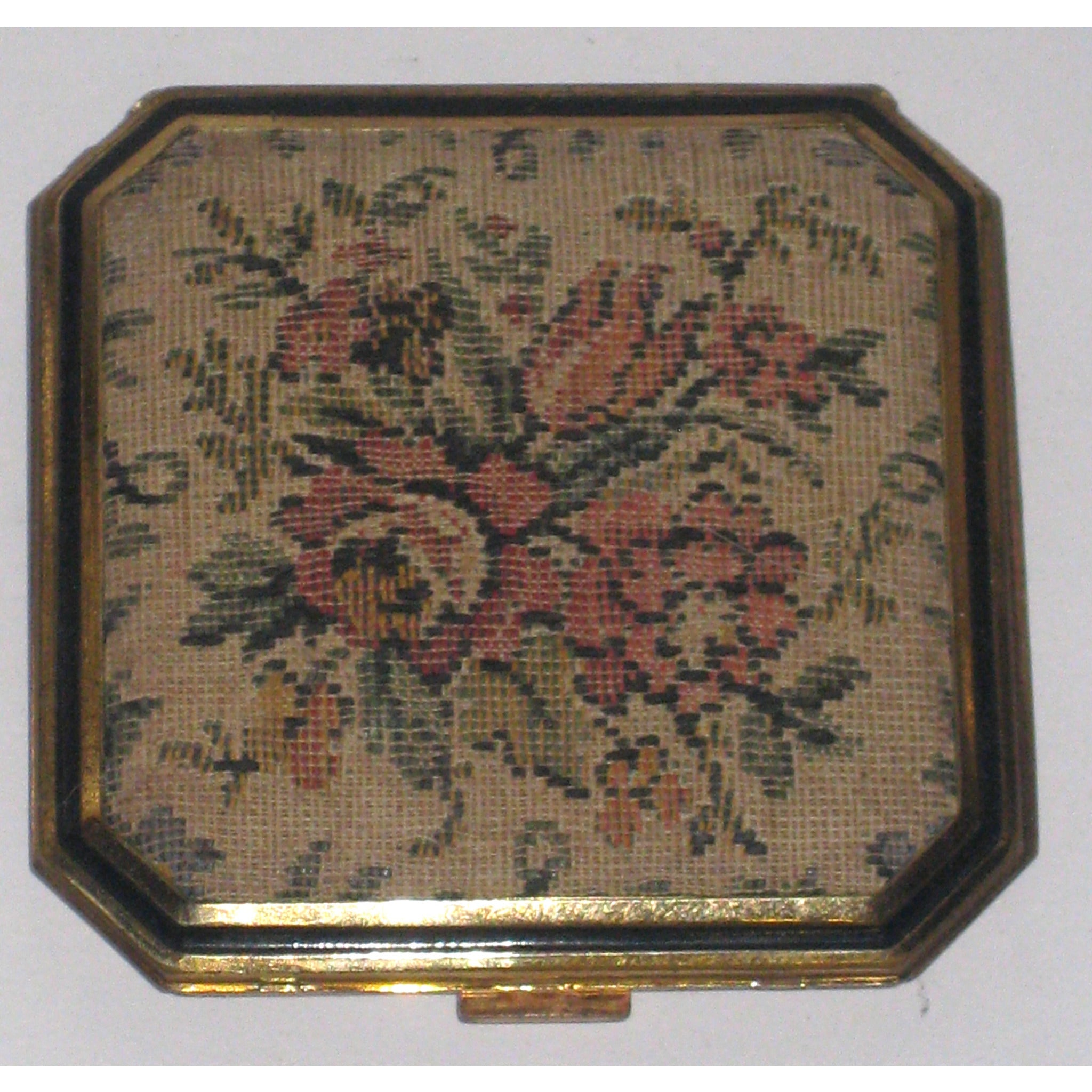 Vintage Tapestry Compact By Elgin American