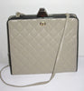 Vintage Neiman Marcus Taupe Quilted Shoulder Purse