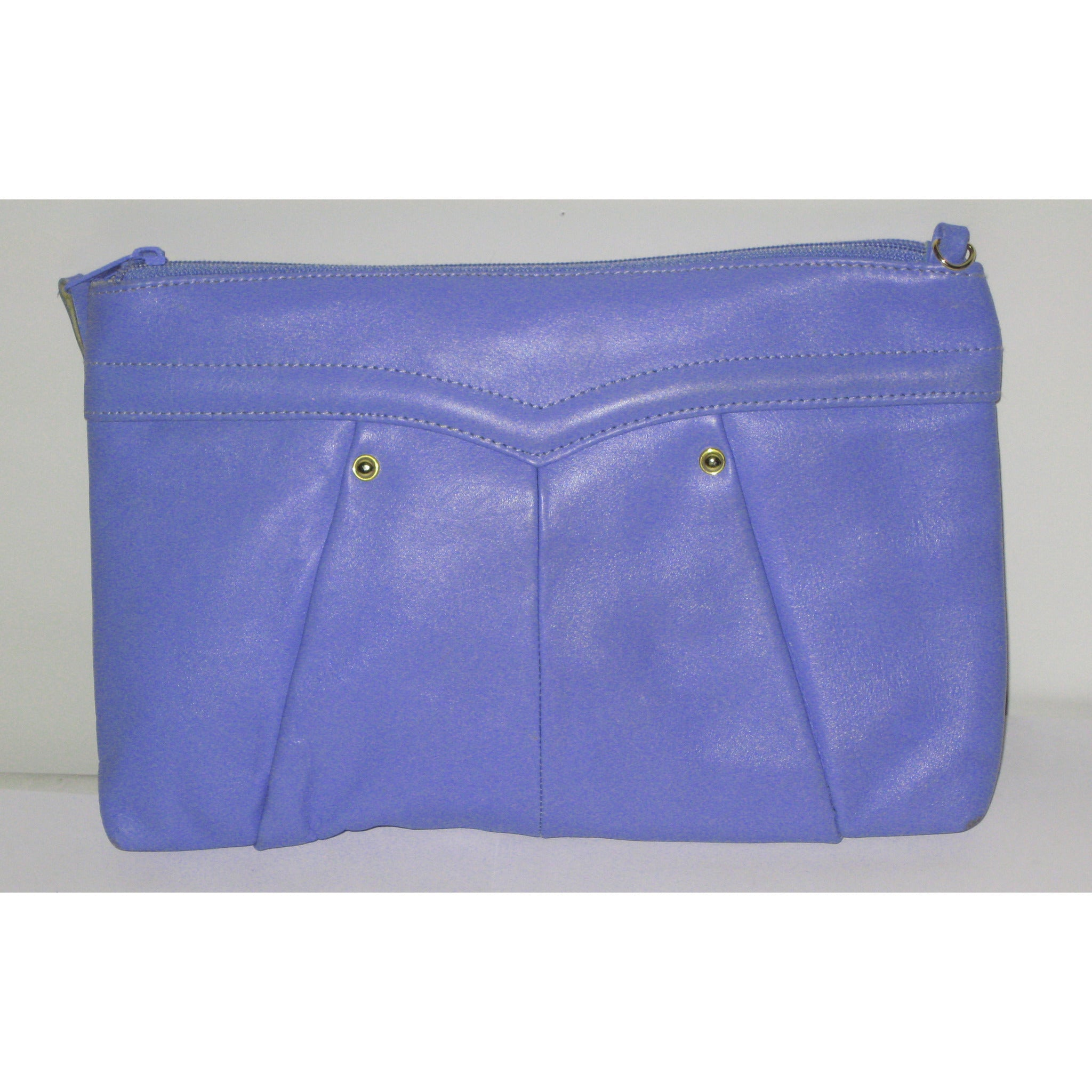 Vintage Periwinkle Leather Clutch Purse