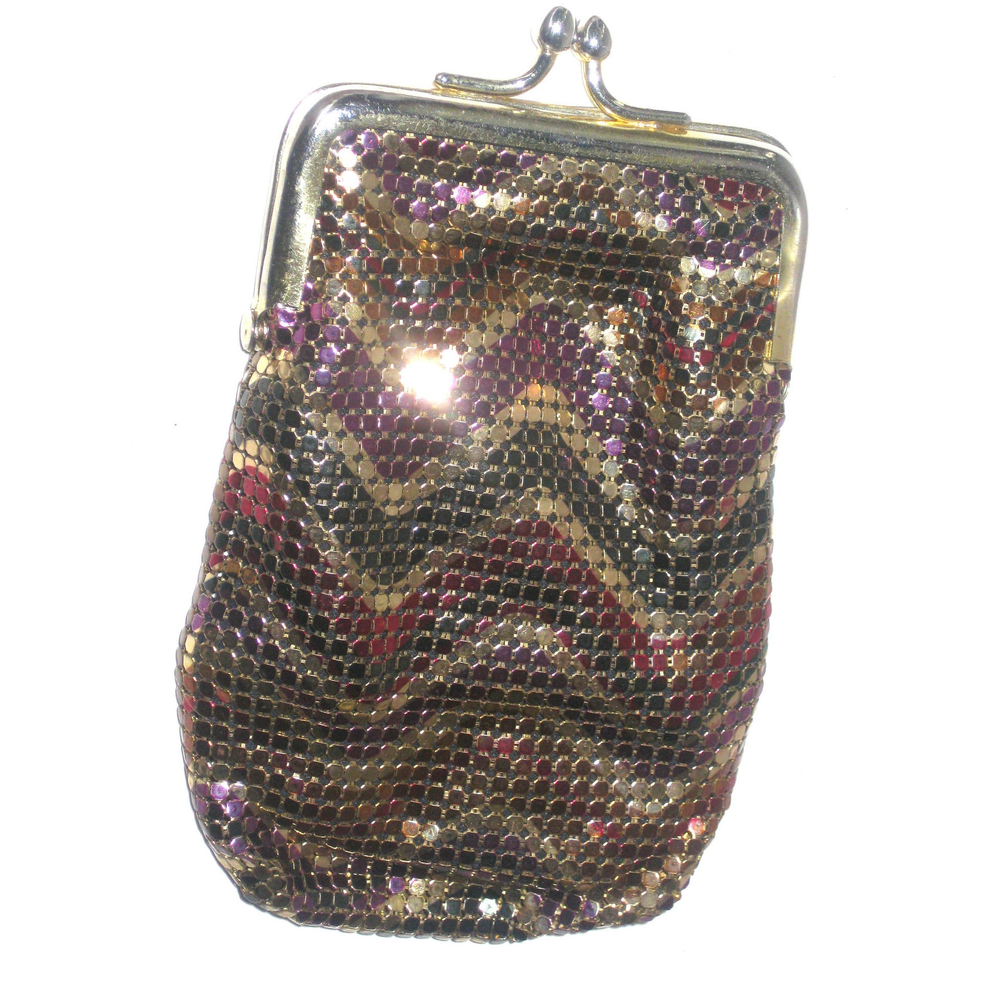 Vintage Rainbow Mesh Coin Purse By Whiting & Davis