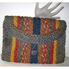 Vintage Colorful Woven Straw Clutch Purse