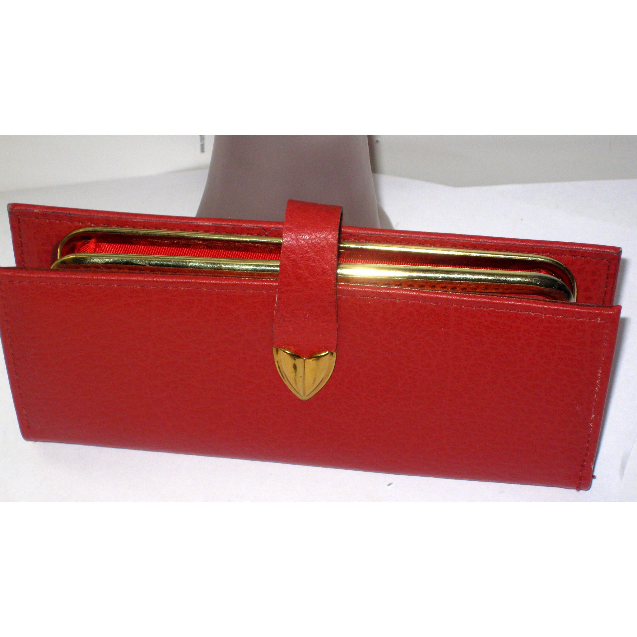 Vintage Red Pompero Cowhide Wallet