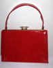 Vintage Air Step Red Stitched Patent Leather Purse