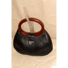 Vintage Navy Round Bakelite Handle Purse