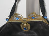 Vintage Black Victorian Ornate Jeweled Purse