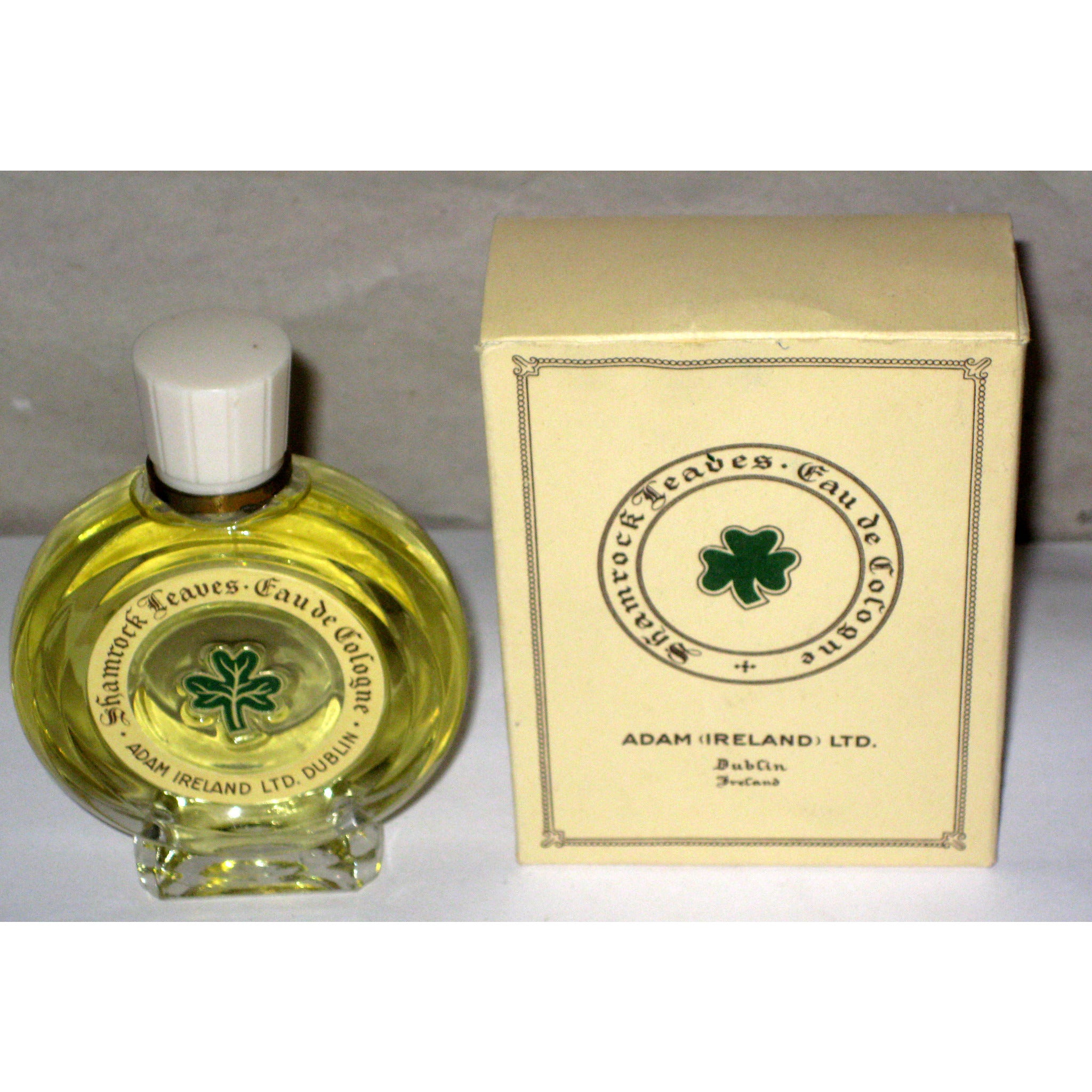 Vintage Adam LTD. Shamrock Leaves Eau De Cologne