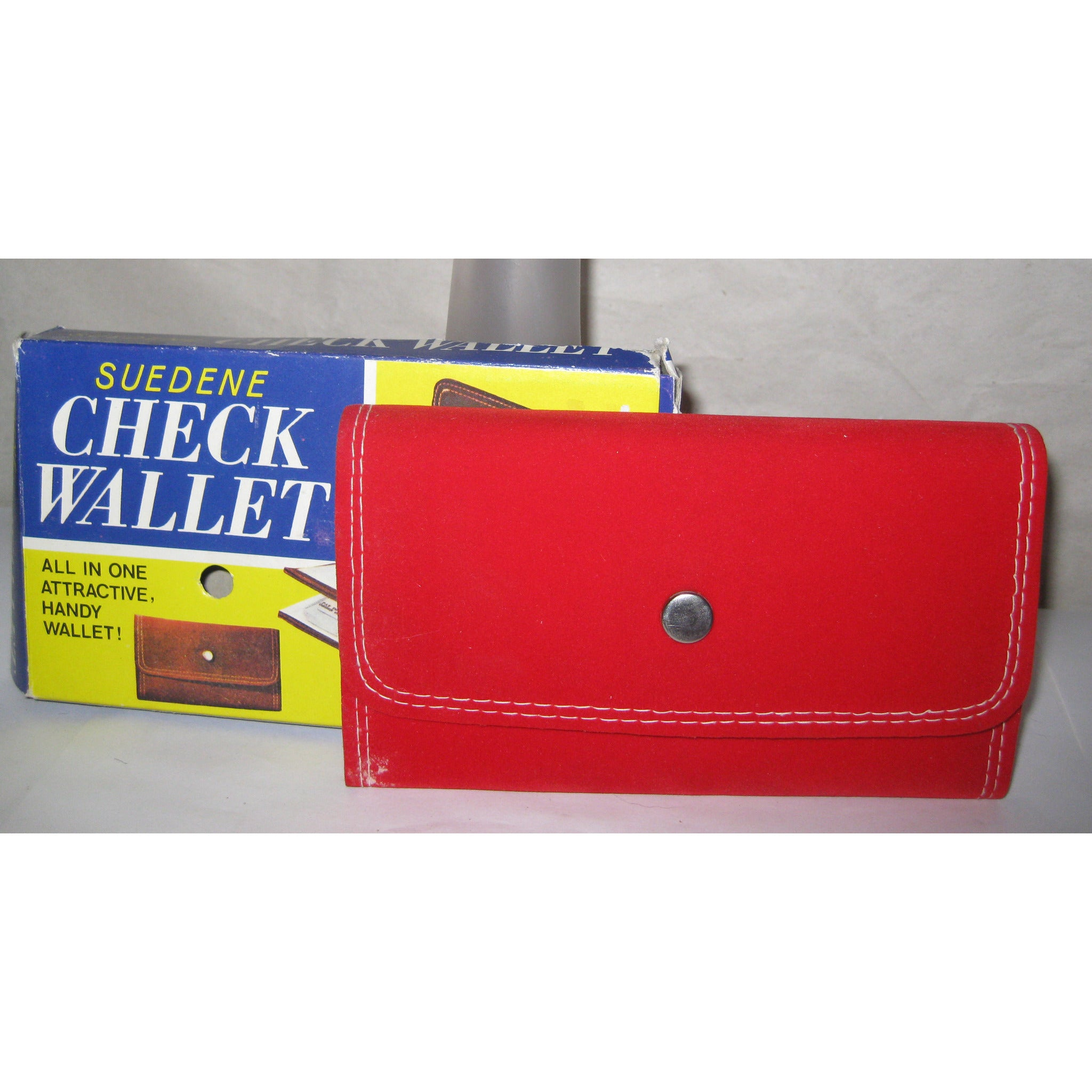 Vintage Red Checkbook Wallet By Suedene
