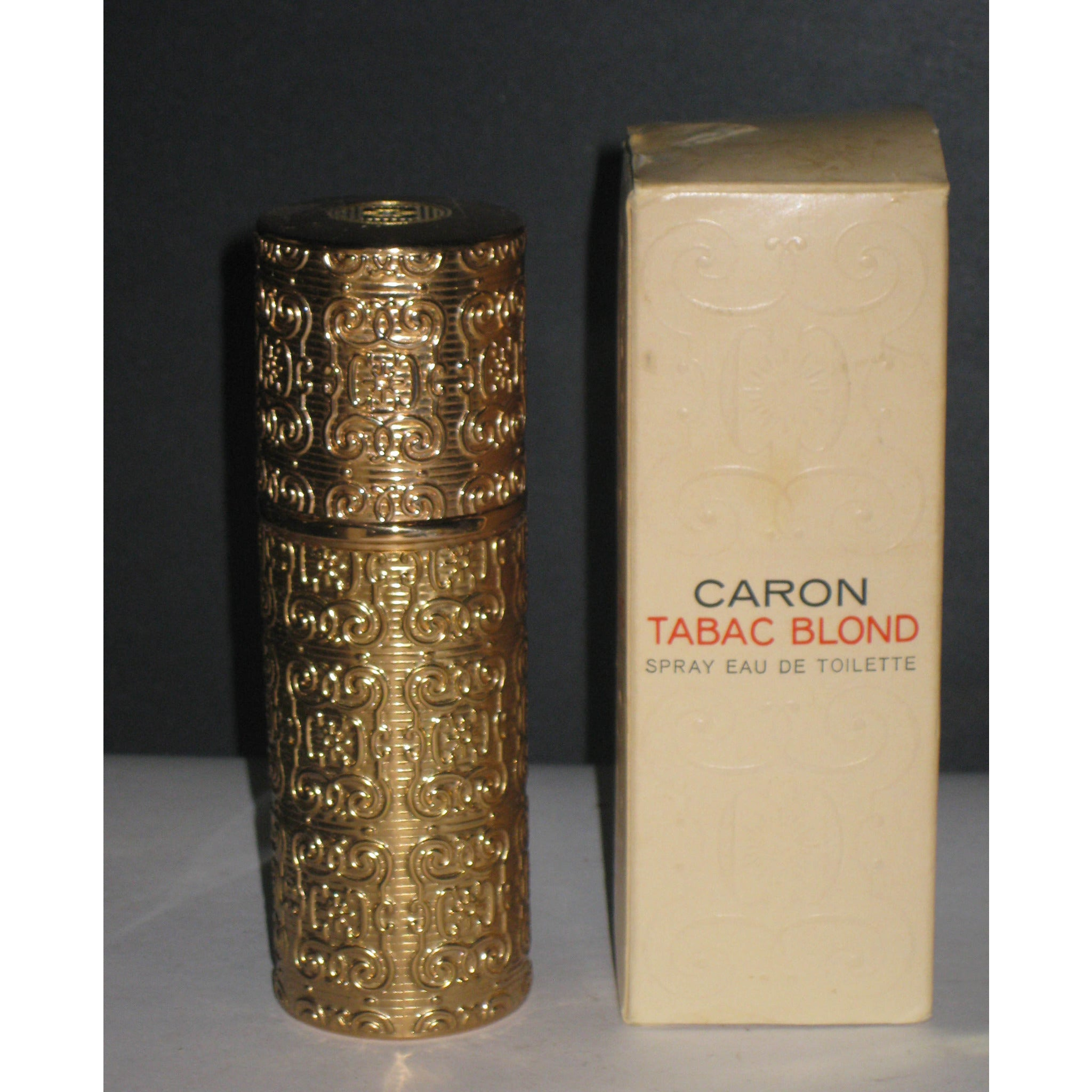 Vintage Caron Tabac Blond Eau De Toilette Refillable Spray Canister