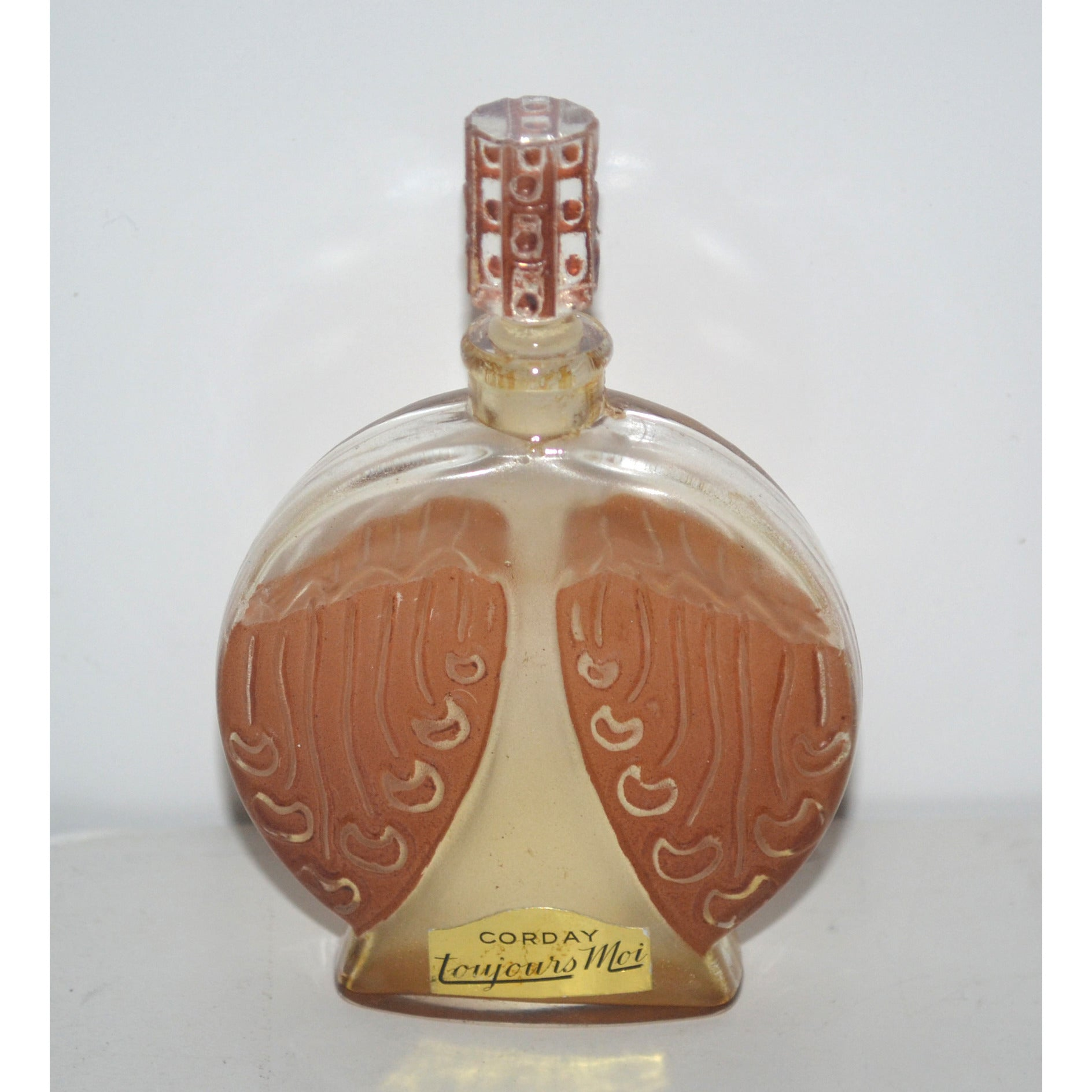 Vintage Toujours Moi Patina Perfume Bottle By Corday