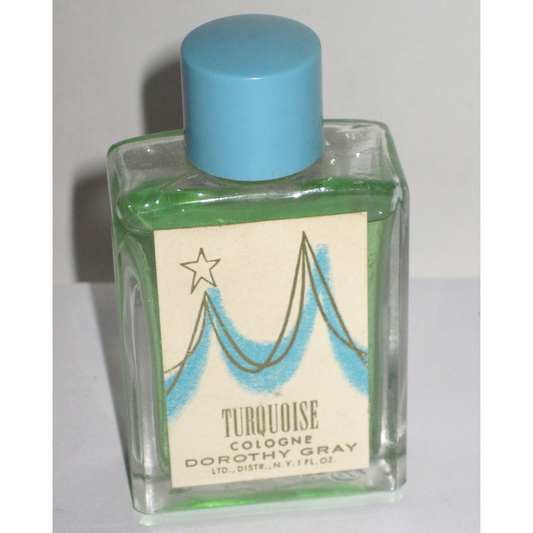 Vintage Turquoise Cologne By Dorothy Gray