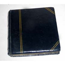 Vintage Black Leather Book Compact By Volupte