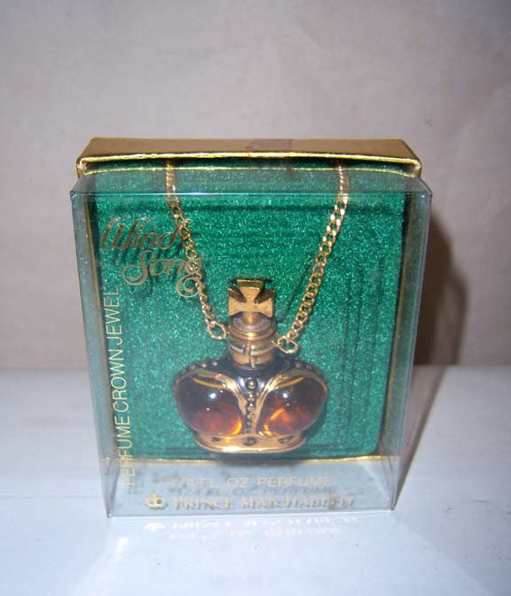 Prince Matchabelli Wind Song Perfume Crown Jewel Necklace