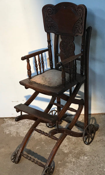 Victorian era High Chair and/or Stroller combination