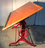 Drafting Table W/cast iron frame by Dietzgen