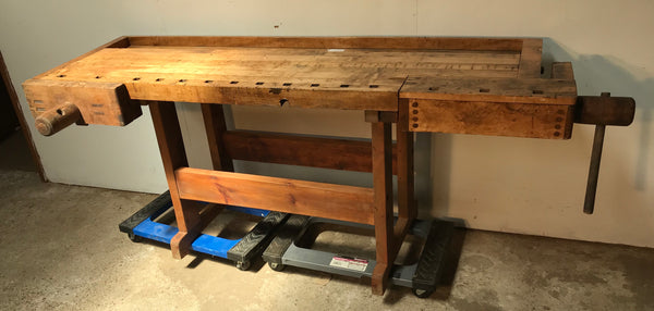 Industrial Work Bench with (2) wood vise