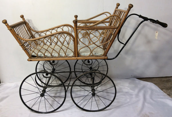 Victorian era Wicker Baby Buggy