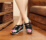 Vintage Casual Embroidery Comfortable Fashion Breathable Shoes Woman - Igearitz