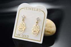 Hand of God Hamsa Earrings