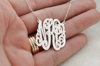 Initials Monogram Necklace