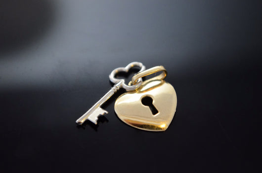 Heart and Key Love Pendant