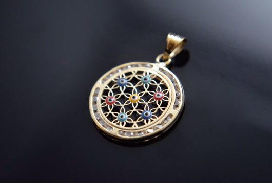 Dream-Catcher Evil Eye Pendant
