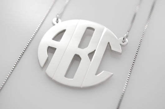 Personalized Round Monogram Necklace