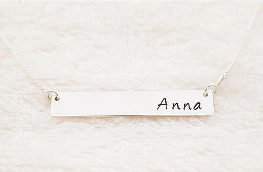 Customized Horizontal Name Bar