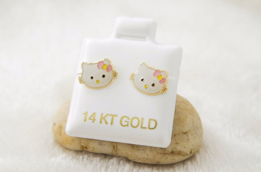 Hello Kitty Face Earrings