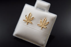 Marijuana Leaf Push Back Earrings