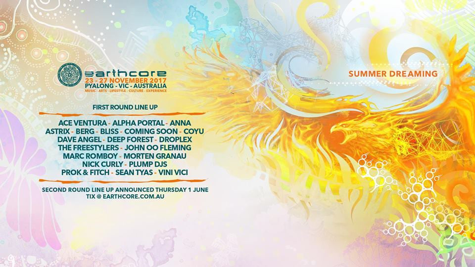 Earthcore | Nov 23rd - 6th Dec | NSW QLD VIC WA