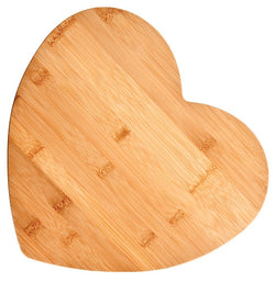 Bamboo Cutting Board, Medium (Heart-Shaped)