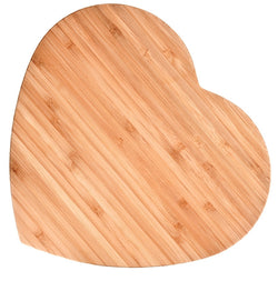 Bamboo Cutting Board, Large (Heart-Shaped)