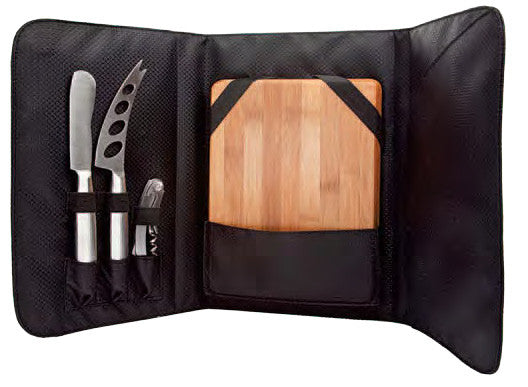 Picnic Cheese Set (includes 2 S/S Cheese knives, S/S corkscrew, and Cheese Board)