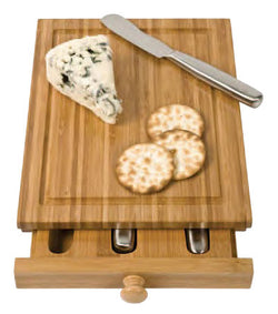 Bamboo Cheese Tools Case/Cutting Board