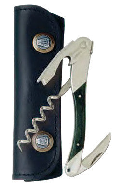 Chateau Laguiole Waiter's Corkscrew, Green Stamina Wood Grand Cru (OUT of STOCK)