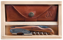 Laguiole Millesime Waiter's Corkscrew Set- Wood Effect