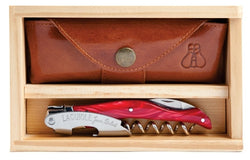 Laguiole Millesime Waiter's Corkscrew Set- Red Marble