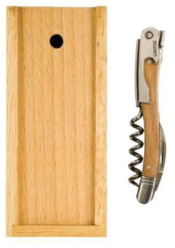 Laguiole Waiter's Corkscrew, Beechwood with Box